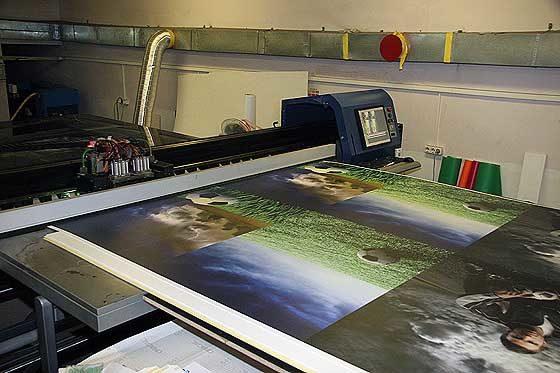 ультрафиолетовая печать на композите